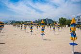 Deserted beach in Albena. — Stock Photo