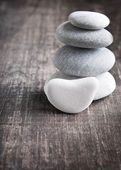A stack of four zen rocks — Stok fotoğraf