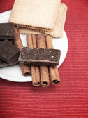 Cinnamon Sticks with chocolate — Stock Photo