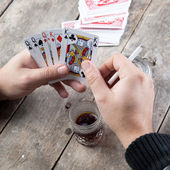 Card for poker — Stock Photo