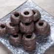 Chocolate tea biscuits - Stock Photo