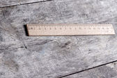 Wooden ruler — Foto de Stock