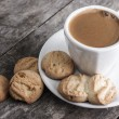Stock Photo: Coffee and cookies