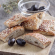 Homemade  scones with olives - Stock Photo