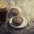 Coffee and cookies on table — Stock Photo