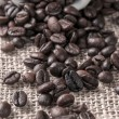 Coffee beans on canvas — Stock Photo #30271863