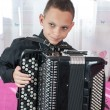 Young accordionist — Stock Photo