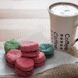 Stock Photo: VanillCookies and coffee