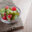 Multi-coloured candied fruits — Stock Photo
