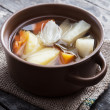Boiled vegetables in ceramic bowl — Stockfoto #39768823