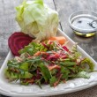Delicious salad with arugula — Stockfoto #39769007