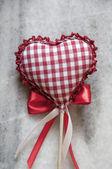 Handmade  knitted heart shape — Foto Stock