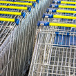 Shopping carts on a parking lot — Stock Photo #50528367