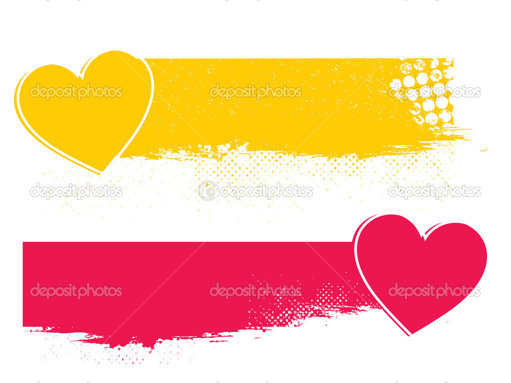 Vector illustration of creative  banners with hearts  Stock Vector #20059403
