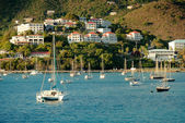 Yacht club in Saint Thomas — Stock Photo