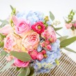 Bright luxury wedding flowers background — Stock Photo #35080747