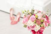 Bright luxury wedding flowers background — Stock Photo