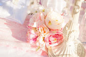 Bright luxury wedding flowers background — Stock Photo