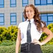Young businesswoman posing — Stock Photo