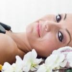 Young beautiful woman in spa salon — Stock Photo #30552269