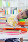 Child with learning difficulties — Stock Photo