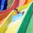 Boy in the aquapark — Stock Photo