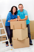 Young couple moving — Stock Photo