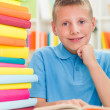 Smiling boy studying — Stock Photo