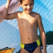 Stock Photo: Boy in aqua park