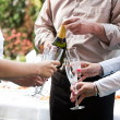 Young  business people having a toast with champaing — Stock Photo