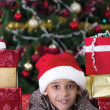 Stock Photo: Child in Christmas night