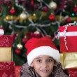 Foto de Stock  : Child in Christmas night