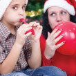 Happy family at Christmas — Stock Photo #33969797