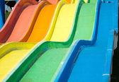Colorful water slides at the aquapark — Stock Photo