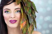 Kadın kavramı makyaj — Stok fotoğraf