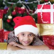 Child in Christmas night — Stock Photo #35851683