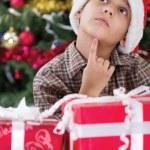 Child in Christmas night — Stock Photo #35852239