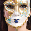 Beauty model girl with carnival mask — Stock Photo