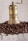 old brass coffee gringer  — Stock Photo
