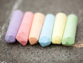 Colored chalk — 图库照片