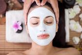 Adult woman having beauty treatments in the spa salon  — Stock Photo
