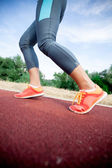 Closeup of A Women's Running Shoe  — Foto Stock
