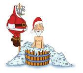 Jolly Santa Claus — Stock Photo