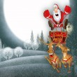 Stock Photo: Illustration with Santa Claus