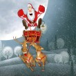 Illustration with SantClaus — Stock Photo #19522195