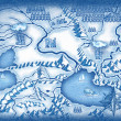 Drawn map — Stock Photo #34263829