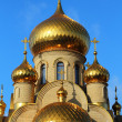 Church with domes — Stock Photo