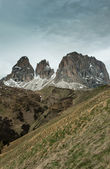 The view from the saddle Passo Sella — Stock Photo
