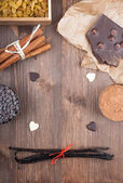 Baking with Chocolate — Stock Photo