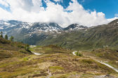 Panoramic view on Simplon Pass — Stock Photo